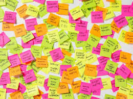 sticky notes in your works