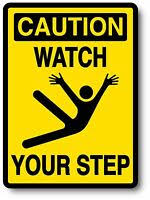 Watch Your Step Safety Decal High Quality Decal Sticker 3 X 4 Ebay