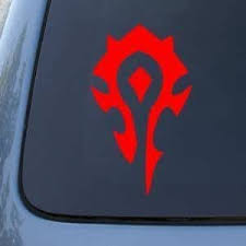 Amazon Com World Of Warcraft Horde Pvp Wow 6 Red Vinyl Decal Window Sticker Automotive