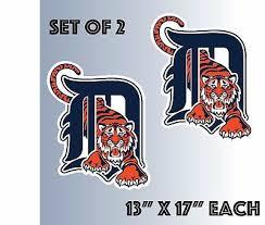 Decals Stickers Vinyl Art Home Garden Set Of 2 Detroit Tigers Vinyl Sticker Decal Cornhole 15 X15 Adrp Fournitures Fr