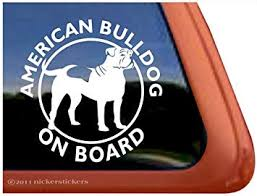 Amazon Com American Bulldog On Board Vinyl Window Decal Sticker Automotive