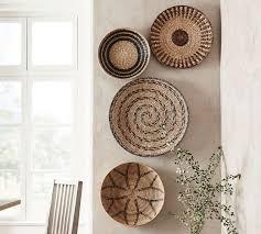 handwoven baskets wall art set of 4