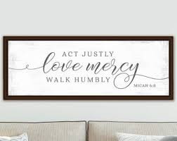 Micah 6 8 Wall Art Etsy
