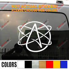 Atheist Symbol Decal Sticker Car Vinyl Atheism Pick Size Color Die Cut Car Stickers Aliexpress