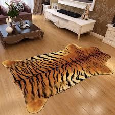 imitation animal skin carpet cow zebra