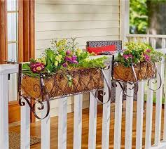 Outdoor Planter Boxes Deck Rail Railing Flower Metal Balcony Patio Fence Bracket For Sale Online Ebay