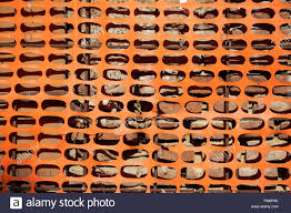 Construction Safety Fence Orange Net Around Building Site Stock Photo Alamy