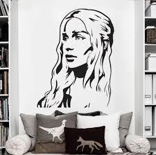 Vinyl Wall Decal Art Sticker Decor Game Of Thrones Daenerys Targaryen Khaleesi Girl Bedroom Wall Stickers D693 The Got Store