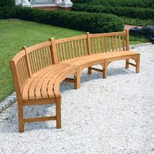 windermere armless double curved wooden