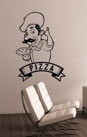 Pizza Decal Pizzeria Logo Vinyl Sticker Window Cook Sign Etsy