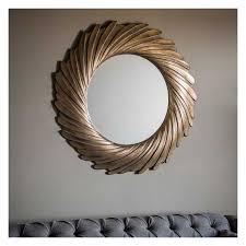 large round gold swirl mirror 100cm