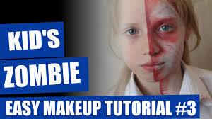 half dead zombie makeup