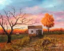 at sunset painting by judy filarecki