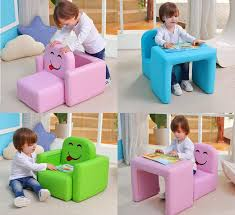 Multi Functional Kids Arm Chair Turns Into A Desk