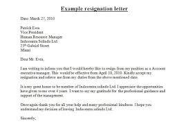 32 free resignation letter sle