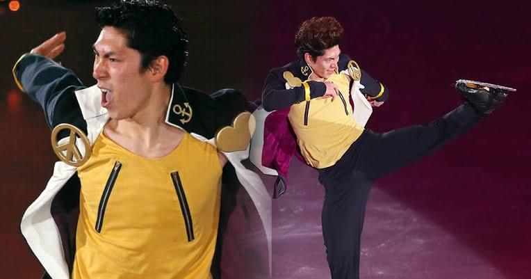 """Peseluncur Indah Keiji Tanaka Keluarkan """"JoJo Stand"""" di Atas Es!"""