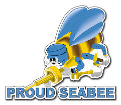 Proud Seabee Decal