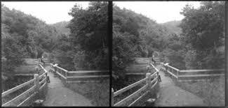Edgar Richard and Owen William playing on bridge with Lydia Myrtle ...