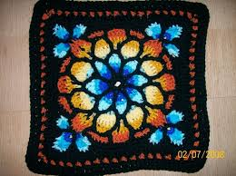 stained glass window afghan crochet
