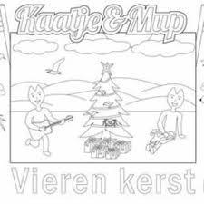 Kleurplaat Placemat Kerst Bij De Kerstboom Per Stuk Stichting