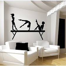 Robot Check Vinyl Wall Decals Gymnast Wall Decal Sports Wall Decals