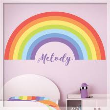 Rainbow Wall Decal Pastel Personalized Rainbow Decor Etsy Rainbow Wall Decal Rainbow Decal Nursery Wall Decals