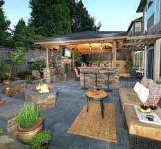 outdoor deck fireplace patio ideas with