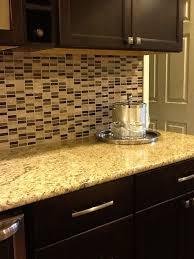 glass tile backsplash venetian gold