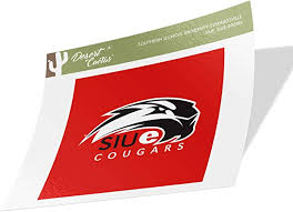 Sticker 00055a Southern Illinois University Edwardsville Siue Cougars Ncaa Vinyl Decal Laptop Water Bottle Car Scrapbook Sports Outdoors Decals