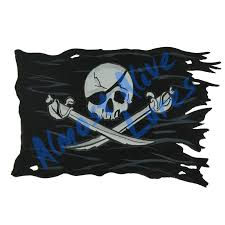 Pirate Ship Battle Flag Black Decal Sticker Car Truck Rv Cup Boat Tablet Cell Ebay