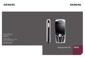 Notice SIEMENS SP65 - téléphone ...