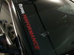 Mopar Performance Windshield Decal Fits Dodge Charger Challenger R T Ram 1500 Ebay