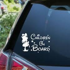 Children On Board Sticker Funny Novelty Kids Car Warning Sign Window Vinyl Decal Ebay