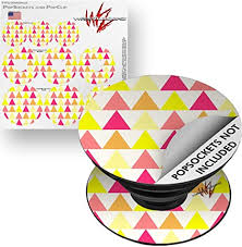 Amazon Com Decal Style Vinyl Skin Wrap 3 Pack For Popsockets Triangles Warm Popsocket Not Included By Wraptorskinz Everything Else