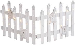 Guaranteed4less Christmas Rustic Wooden Snow Fence Led Lights Tree Skirt Stand Cover Decorations White With Silver Tips 1 Amazon Co Uk Kitchen Home