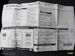 2008 Pontiac G6 Value Leader Sedan Window Sticker Photos Gtcarlot Com