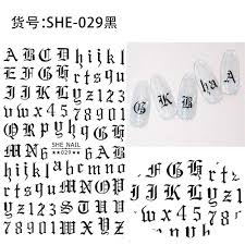 Newest She 029 Black And White Gold Letter 3d Nail Art Sticker Nail Decal Stamping Export Japan Designs Rhinestones Decorations Nail Sticker Nails Magazine From Sophine07 23 35 Dhgate Com