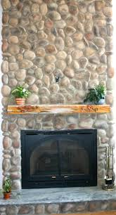 river rock stone fireplace pictures