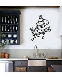 Check Out These Major Bargains Wall Sticker Be Grateful Grater Kitchen Quote Phrase Vinyl Mural Decal Art Decor Eh4511