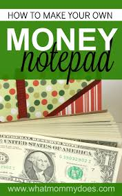 how to make a money notepad the