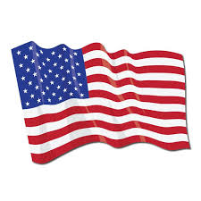 Waving American Flag Reflective Fire Helmet Decal The Bravest Decals