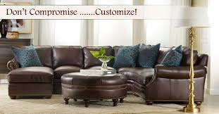 leather sectional by bradington young