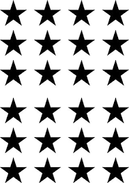 Amazon Com Star Small Stars 24 Pack 1 75 Diameter Vinyl Decal Stickers Diy Wallpaper Yadda Yadda Design Co Color Choices 1 75 Dia 24 Small Black Arts Crafts Sewing
