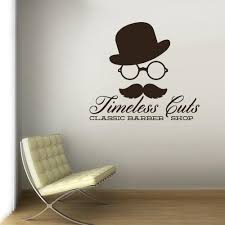 Wall Vinyl Decal Sticker Decals Mustache Haircut Salon Hairdresser Bar Stickersforlife