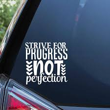 Black Sliver Strive For Progress Not Perfection Text Car Body Stickers Window Door Decal Simple Top Quality Waterproof S259 Car Stickers Aliexpress