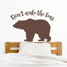 Don T Wake Bear Wall Decal Facebook