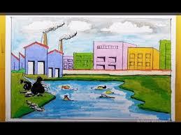 environmental pollution drawing
