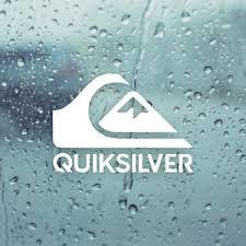 Quiksilver Die Cut White Vinyl Decal Sticker 5 In X 3 5 In Surfboard Car Window Ebay