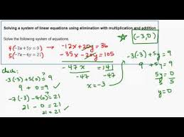 linear equations using elimination
