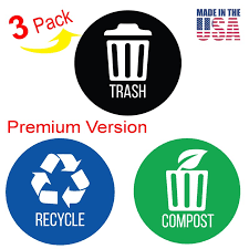 Itouchless Trash Stickers Premium Vinyl Decals For Trash Can Wayfair